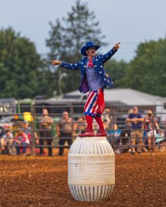 The rodeo clown at abigail's plan.