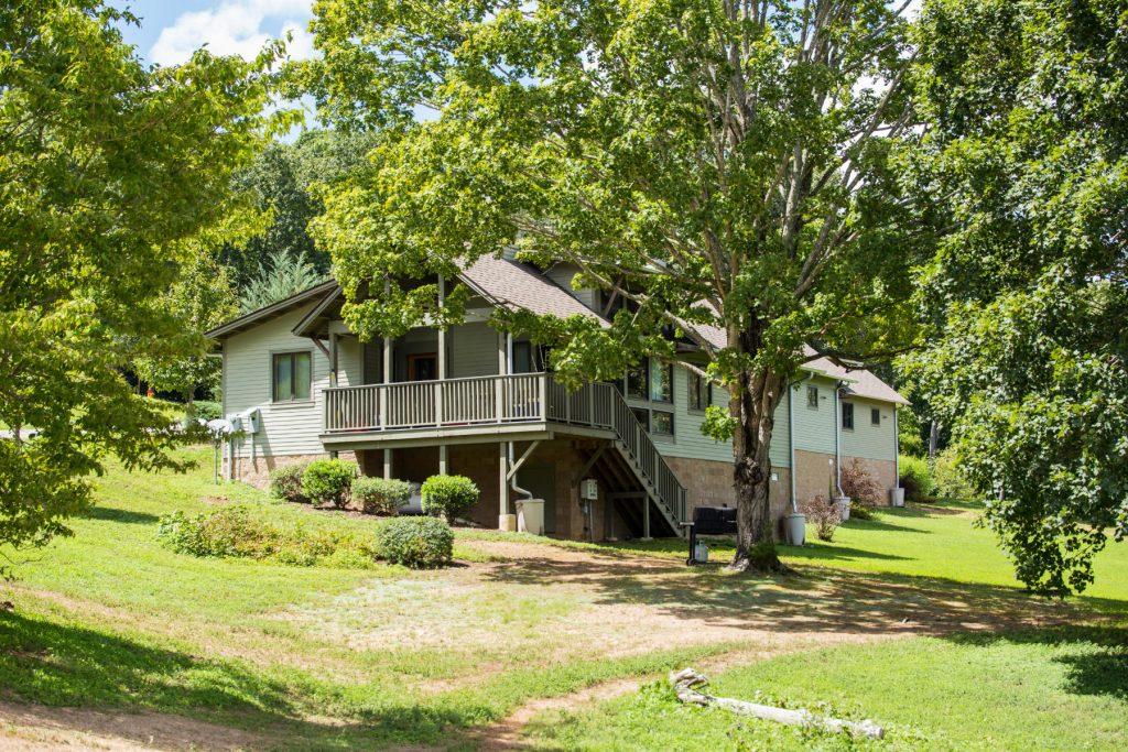 The david crockett park cabins.