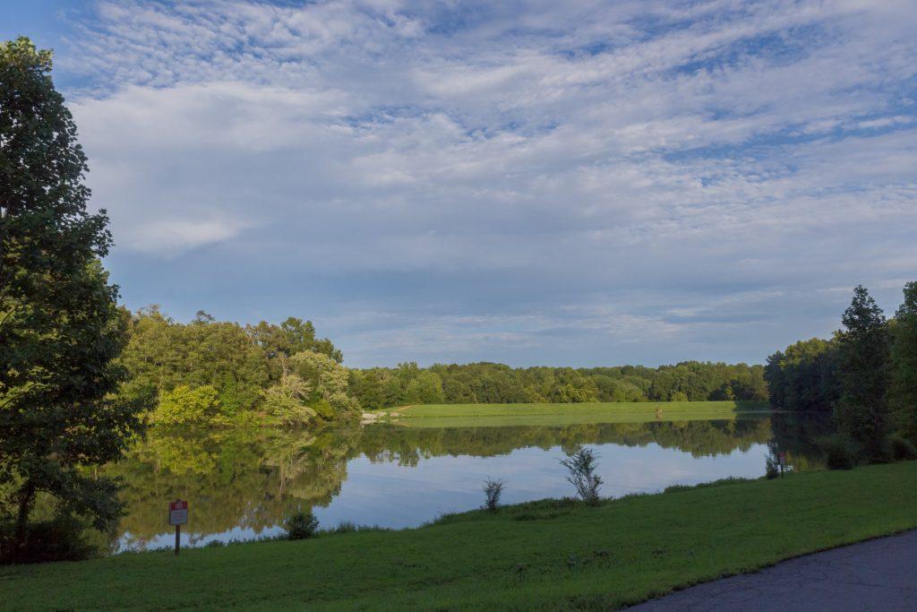 Lindsey lake in david crockett park.