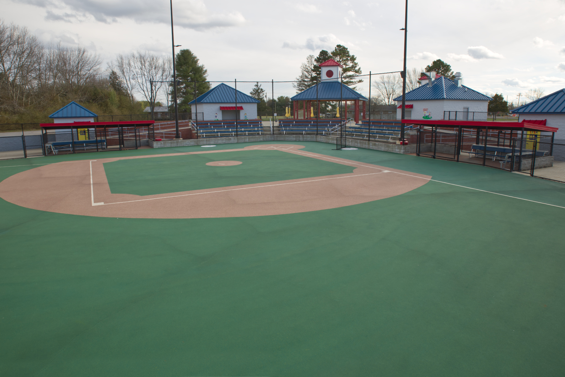The outfield area of abigail's ball field.