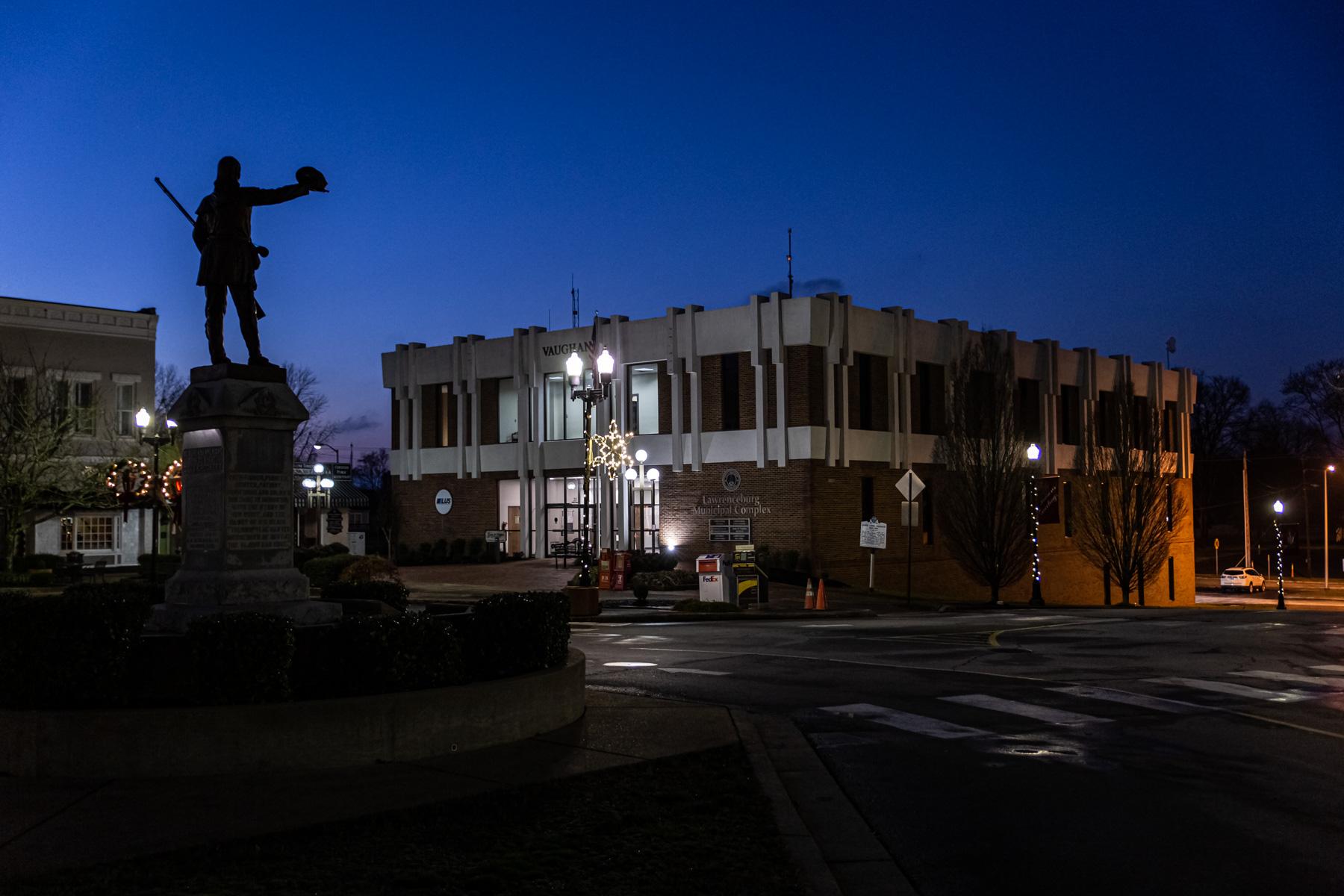 david crockett state at night